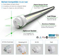 8 Foot Led Tube Lights 8ft Led T8 Compatible Ballast Tube Replacement Etl Saa Tuv Ce