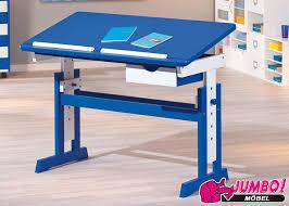 schreibtische für kinderzimmer kinder schreibtisch paco in mdf massiv weiß blau jumbo