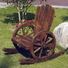buy solid wood garden rocking chair burntwood from our outdoor