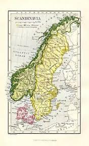 map of europe scandinavia map europe scandinavia sweden denmark 1878 ebay