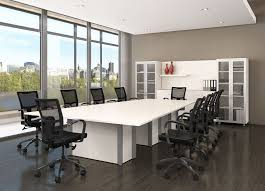 White Boardroom Table White Office Furniture Boardroom Furniture Conference Room Furnitu
