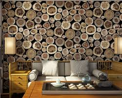 junran classic vintage imitation wood grain stake log