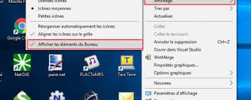 afficher les icones du bureau turoriel afficher masquer les icônes du bureau windows 10