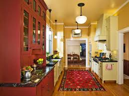 Kitchen Yellow Walls - red kitchen cabinets with yellow walls kitchen design