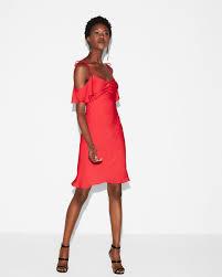 cold shoulder dress satin cold shoulder mini dress express