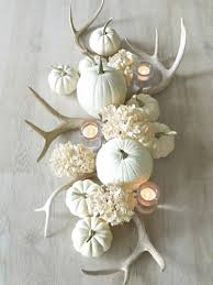 autumn winter centrepiece a distinctly white theme the antlers