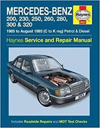 mercedes 124 series service and repair manual coombs