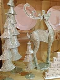 silver glittered metal contemporary medium christmas tree