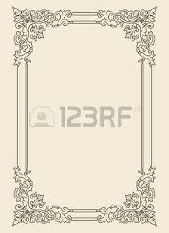 vintage photo frame ornamental vector in seventeenth century