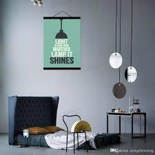 2017 modern minimalist hipster office bedroom wall art light