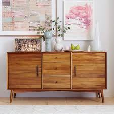 Modern Sideboards And Buffets Mid Century Buffet Large West Elm