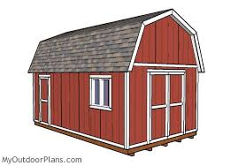 Gambrel Roof Barn Plans 12x20 Gambrel Shed Plans Myoutdoorplans Free Woodworking Plans