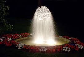 water fountain with lights water sphered fountains