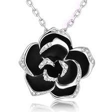 black rose necklace images Black rose crystal necklace basically zen fine unique jpg