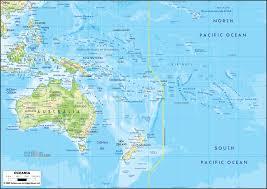Physical Maps Physical Map Of Oceania Ezilon Maps