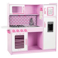 melissa u0026 doug chef u0027s wooden modern play kitchen cupcake play