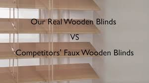 faux vs real wood blinds youtube