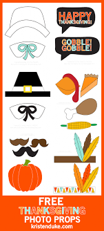 thanksgiving photo booth props free printables thanksgiving