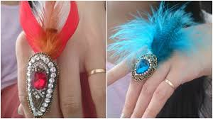 bird feather ring design