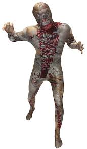 scary facelift morphsuit kids costume mr costumes