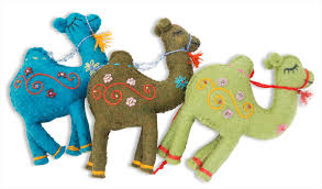 caravan camel ornaments assorted colors sc 07 1