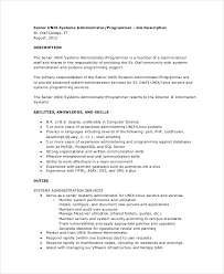 Freelance Writer Job Description For Resume by Systems Administrator Job Description Resume