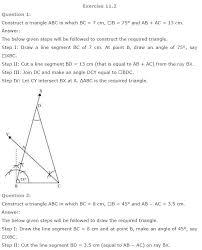 geometric constructions class 9 mathematics ncert solutions