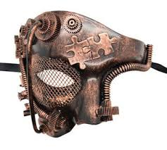 men masquerade mask new steunk style bronze phantom half men masquerade mask