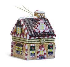 Mr Christmas Ornament - christmas gingerbread house music box ornament