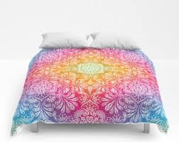 Queen Girls Bedding by Rainbow Bedding Etsy