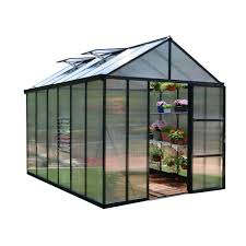 Greenhouse 6x8 Palram Harmony 6 Ft X 8 Ft Polycarbonate Greenhouse In Green