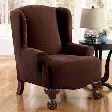 Wing Recliner Chair Furniture Reclining Wingback Chair And Wingback Recliner Slipcover