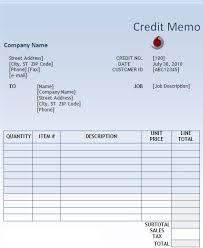 credit memo templates credit memo template u2013 13 free word excel