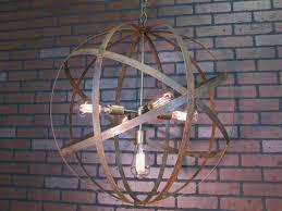 Orb Ceiling Light Rustic Chandelier Wine Barrel Ring Light Orb Ceiling Light