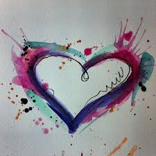 42 best watercolor heart tattoo images on pinterest watercolor