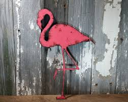 Antique Wood Wall Decor Flamingo Decor Etsy