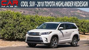 colors for toyota highlander 2018 toyota highlander hybrid review colors and release date