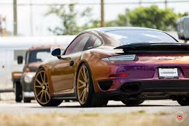 porsche purple s8 audi color flip porsche 911 turbo on vossen wheels gets a cool film