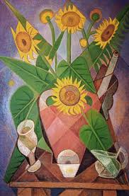 cubism flower painting cubist sunflowers marevna vorobieff wikiart org