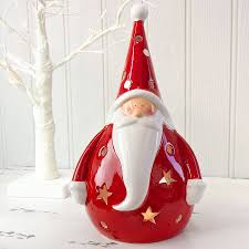 ceramic santa tealight holder by lisa angel homeware and gifts