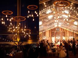 Rustic Wedding Chandelier California Glamorous Wild West Wedding