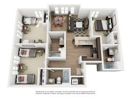 3 bed 3 bath floorplan b4 student apartments near san jose state