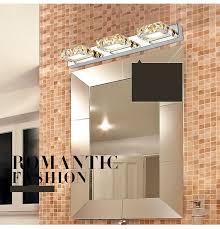Crystal Bathroom Mirror Modern Led Bedroom Wall Light Crystal Bathroom Mirror Lamps