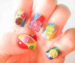 candy fake nails kawaii nails kawaii nail art ice cream nails