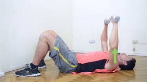 Chest Workout With Dumbbells At Home Without Bench 7 Ways To Workout At Home Using Hand Weights Wikihow