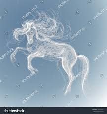 Unicorn Cloud by White Horse Vector Sketch Fairy Unicorn Stock Vector 105247991
