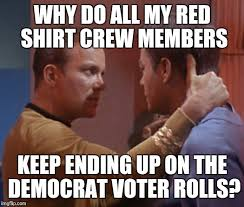 Redshirt Meme - i dont know whats more amazing the way shes looking at that