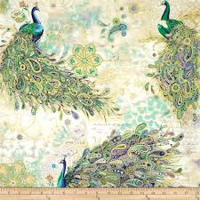 peacocks home decor paisley peacock metallic peacocks iris gold from fabricdotcom