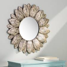 Circle Wall Mirrors Bungalow Rose Seema Round Wall Mirror U0026 Reviews Wayfair