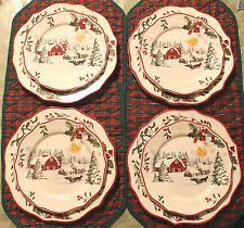 better homes and gardens plate set 8 winter